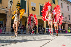 Brazilian dancers Royalty Free Stock Photography