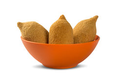 Brazilian deep fried chicken snack, popular at local parties. Stock Photography