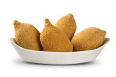 Brazilian deep fried chicken snack, popular at local parties. Royalty Free Stock Photo