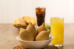 Brazilian deep fried chicken snack, popular at local parties. Royalty Free Stock Photography
