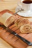 Brazilian dessert Bolo de rolo rollcake Stock Photo