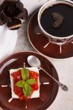 Brazilian dessert Romeo and Juliet, goiabada jam of guava and ch Royalty Free Stock Photo