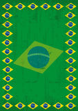 Brazilian dirty poster frame Royalty Free Stock Photos