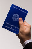Brazilian document work. Mandatory document for those who come to pay some kind of professional service in Brazil Stock Photography