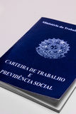 Brazilian document work. Mandatory document for those who come to pay some kind of professional service in Brazil Stock Photo