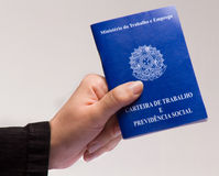 Brazilian document work. Mandatory document for those who come to pay some kind of professional service in Brazil Royalty Free Stock Photo