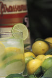 Brazilian drinks: caipirinha. The most famous and traditional of Brazilian drinks, it is made with fresh lime, cachaça (sugar cane spirit, similar to rum) stock images