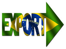 Brazilian export text Royalty Free Stock Images