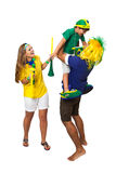 Brazilian family supporters Royalty Free Stock Images