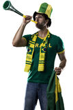 Brazilian Fan Celebrating Royalty Free Stock Image