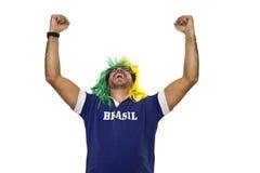 Brazilian fan commemorating Stock Image
