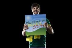 Brazilian Fan Royalty Free Stock Image
