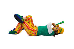 Brazilian fan laying stock image