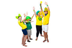Brazilian fans celebrating Stock Image