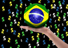Brazilian fans Royalty Free Stock Images