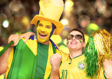 Brazilian fans, soccer Stock Images