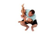 Brazilian father and daughter having fun Stock Photos