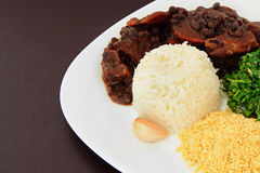 Brazilian Feijoada detail Royalty Free Stock Photos