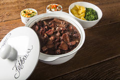 Brazilian Feijoada Food. Traditional brazilian food royalty free stock photos