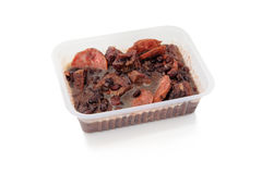 Brazilian Feijoada in a package Royalty Free Stock Image