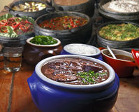 Brazilian Feijoada on a restaurant. Traditional Brazilian feijoada on a restaurant royalty free stock photography