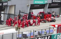 Felipe Massa pits for tyres Royalty Free Stock Photos