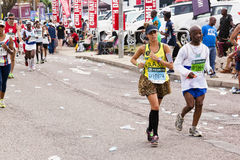 Brazilian Female Runner at Comrades Ultra Marathon Stock Photography