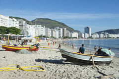 Brazilian Fisherman Copacabana Beach Rio Royalty Free Stock Images