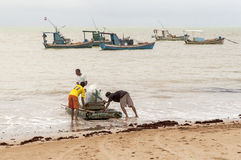 Brazilian fishermen Royalty Free Stock Images