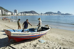 Brazilian Fishermen Copacabana Beach Rio Royalty Free Stock Image