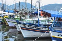 Brazilian fishing boats Royalty Free Stock Photo