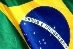 Brazilian flag. The national flag of Brazil Royalty Free Stock Photography