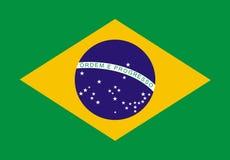 Brazilian Flag. Flag of Brazil Royalty Free Illustration