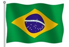 Brazilian flag. 3D flag of Brazil Royalty Free Stock Photography