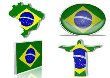 Brazilian flag Stock Image