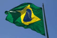 Brazilian Flag Royalty Free Stock Photography