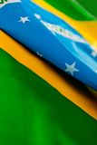 Brazilian flag Royalty Free Stock Image