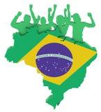Brazilian flag Royalty Free Stock Photos