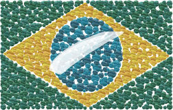 Brazilian Flag. Made by little collored ball stock illustration