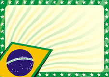Brazilian flag background Royalty Free Stock Photo