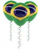 Brazilian flag balloon Royalty Free Stock Images