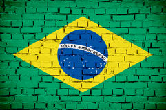 Brazilian flag Royalty Free Stock Images