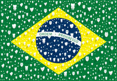 Brazilian flag Stock Images