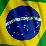 Brazilian Flag Closeup Stock Images