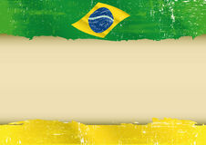 Brazilian flag parchment Royalty Free Stock Photography