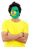 Brazilian flag portrait Stock Images