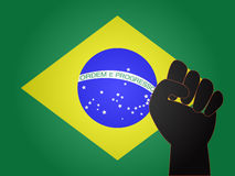 Brazilian Flag Protest Sign Royalty Free Stock Photos