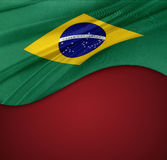 Brazilian flag Royalty Free Stock Photos