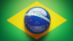 Brazilian Flag Soccer Ball. A High quality Soccer Ball forming the Brazilian flag stock illustration