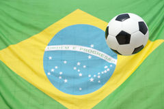 Brazilian Flag Soccer Ball Football Royalty Free Stock Photo